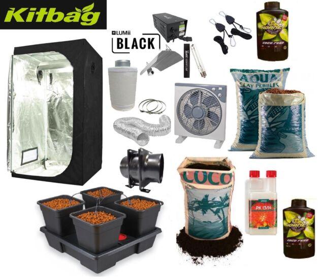 Complete Hydroponic Grow Tent Fan Light Kit 600w 1.2 self watering system set up  sc 1 st  eBay & Complete Grow Tent Kits | eBay