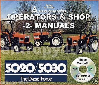 Allis Chalmers 5020 5030 Tractor Shop Service Operator Manual -2- Manuals Cd