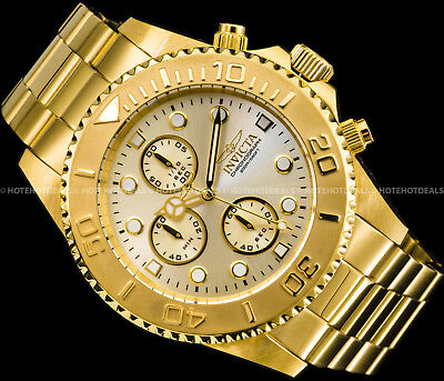 Invicta Men's 1774  Pro-Diver Collection 18k Gold Ion-Plated