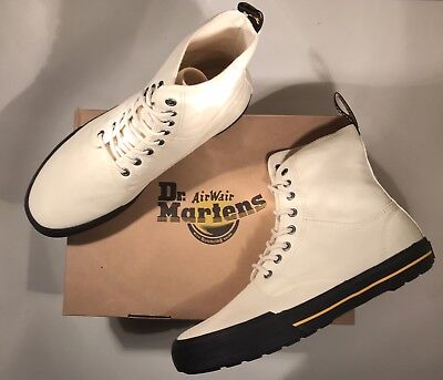BNIB Dr Martens WINSTED ECRU CANVAS Boots 10 Guaranteed Original