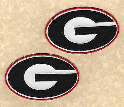 (🏈 Lot of 2-UNIVERSITY OF GEORGIA BULLDOGS UGA Team logo Iron-on Jersey PATCHES!)