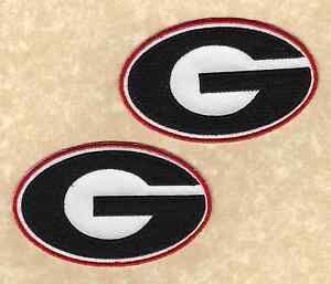 🏈 Lot of 2-UNIVERSITY OF GEORGIA BULLDOGS UGA Team logo Iron-on Jersey PATCHES!