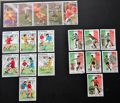 Philatelic STAMPS FROM OVER THE WORLD - 198/177/418 - SOCCER COPA DE FOOTBALL