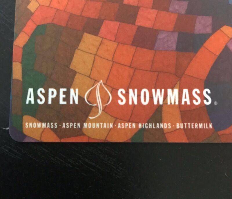 1 Day Adult Aspen Snowmass Ski Snowboard Pass