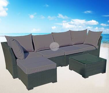 Outdoor Sofa Lounge with Chaise & Coffee Table Nerang Gold Coast West Preview