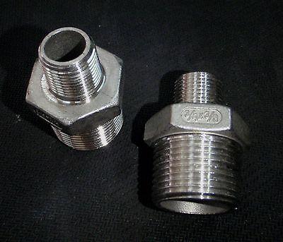 Stainless Steel Reducer Nipple 34 X 38 Npt Pipe Rn-075-037