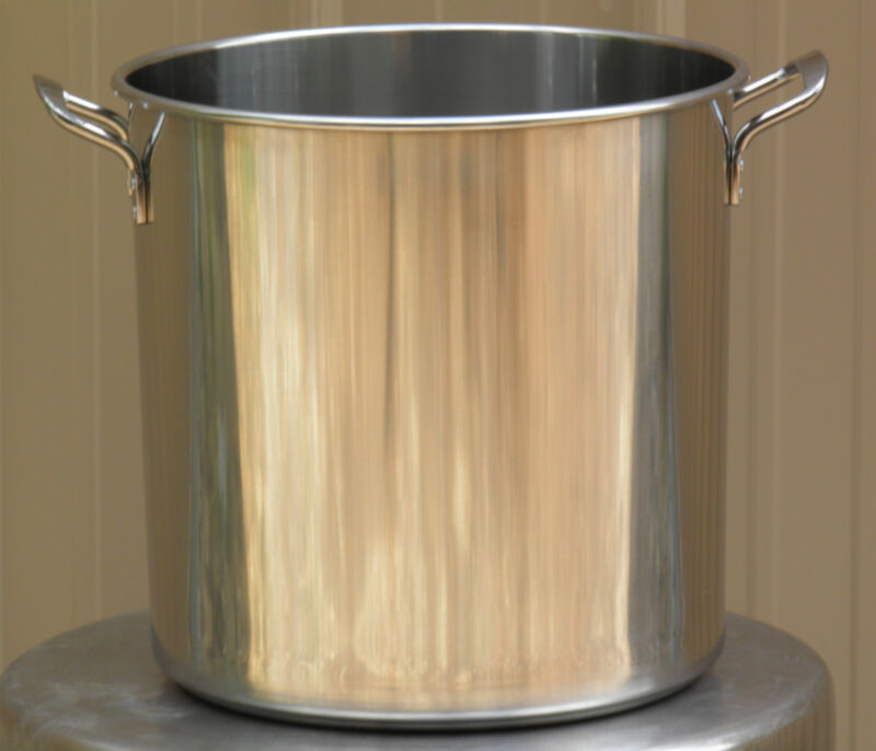 Stainless Steel Brew Kettle Stock Pot with Lid 50 qt for Brewing and Distilling