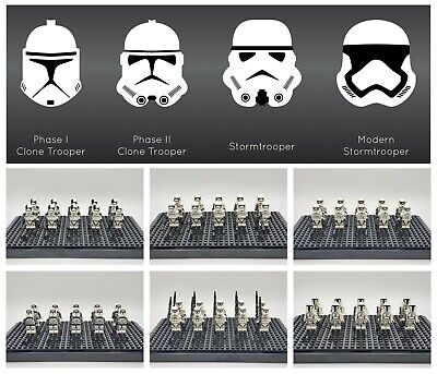 Star Wars Stormtrooper Minifigures Lot First Order Army Set For Lego -USA SELLER
