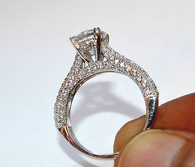 Ring - 2.40 CT ROUND SOLITAIRE BRIDAL ENGAGEMENT RING 14KT SOLID WHITE GOLD