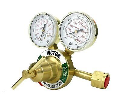 Victor Heavy Duty Oxygen Regulator Model 350-125-540 - Full Brass - Cga540