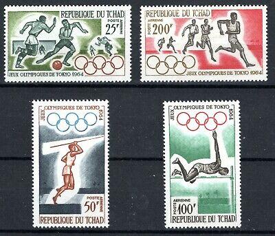 CHAD 1964 SC#'s C15-C18 Olympics MNH