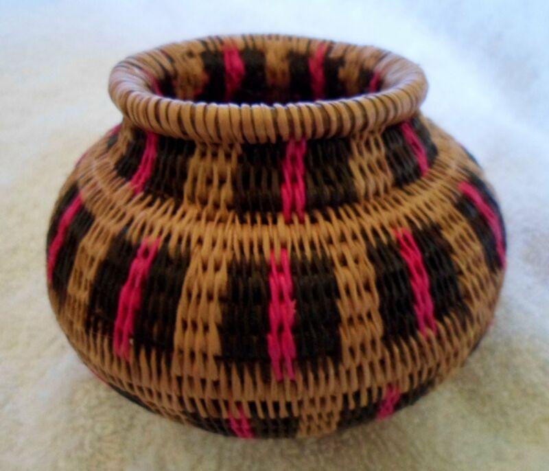 Wounaan Embera Woven Classic Design Basket-Panama 20120820mm