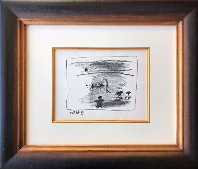 Pablo Picasso - Les banderilles, A Los Toros - Original Mourlot Lithograph, 1961