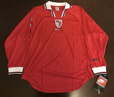 Rare Vintage 1998 Nike FC Sion Switzerland Futbol Soccer Jersey image