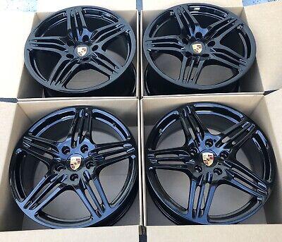 "19"" Porsche 911 997 TURBO Factory OEM Genuine wheels rims charcoal Black"