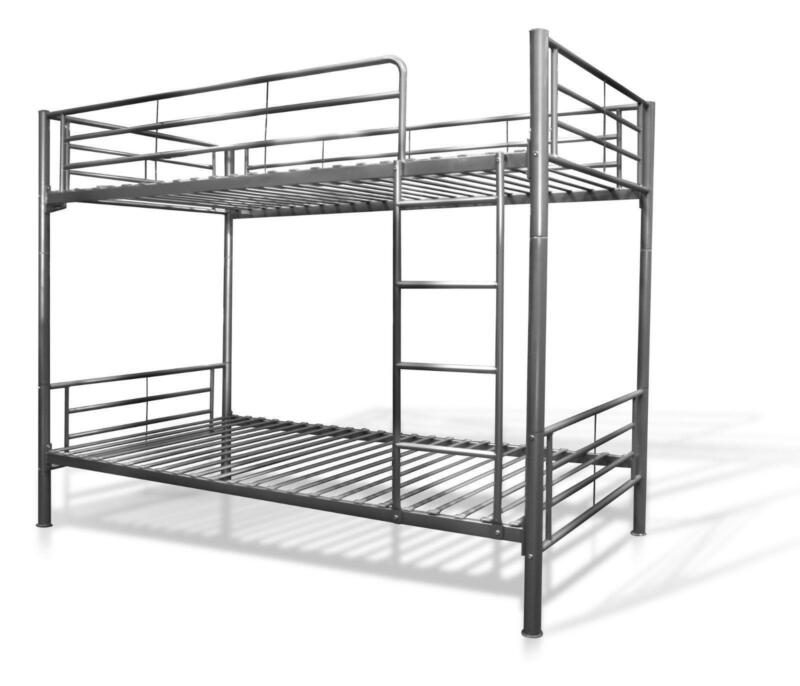Metal bunk bed frame ebay for Bunk bed frame