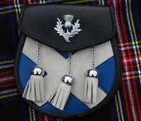 Falda Escocesa Bolso Tipo Sporran Cruz / Kilt Silbato Escudo Insignia/hombre -  - ebay.es