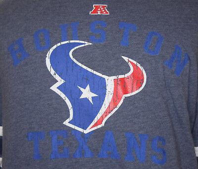 Houston Texans Large T-Shirt L Football Blue Texas Long Sleeve NFL Team Apparel