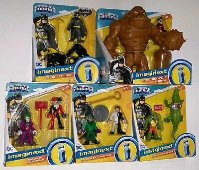 Imaginext OOZING CLAYFACE & ROBIN, BATMAN, HARLEY & JOKER, CROC RIDDLER TWO-FACE