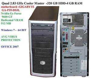 Quad 2.83 GHz Cooler Master tower- -320 GB HDD-4 GB RAM- Nvidia G Colyton Penrith Area Preview