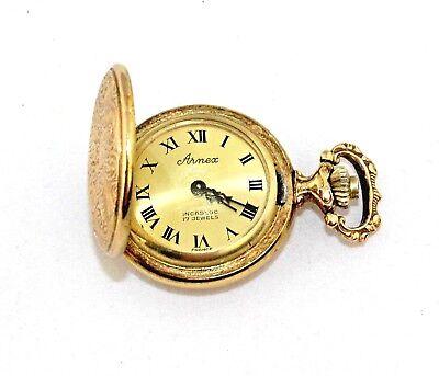 Vintage ARNEX Incabloc 17 Jewel Movement Hunter Pocket Watch 1