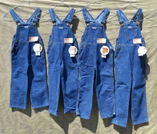 New Old Stock Red Camel Kids Bib Overalls Made in USA Vintage Boys Girls