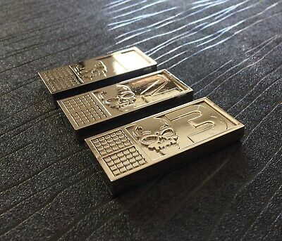 Metal Biochips set of 3 with 3M Backing Tape inspired By Rogue Trooper