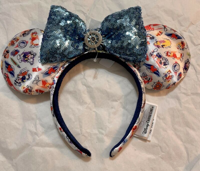 RARE Disney Cruise Line Captain Mickey & Friends Ink & Paint Minnie Ears