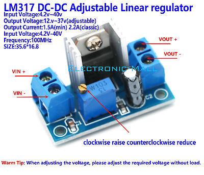 Dc-dc 4.2v40v To 1.2v37v 2.2a Adjustable Liner Regulator Step-down Converter