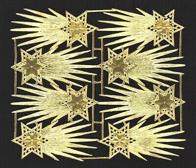 DIE CUT SCRAPS alter Bogen 4 Paar Engelsflügel Dresdner Pappe