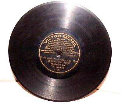 """RARE Antique 7"""" 1st VICTOR RECORD A-667 Phonograph Gramophone 1901"""