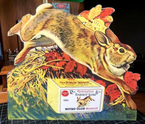 REPRO Remington UMC Rabbit Game Load Standing Advertising Die Cut