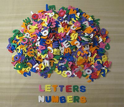 Foam Craft Shapes - Letters And Numbers