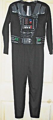 DARTH VADER Boys Large NWOT Star Wars Costume Jumpsuit Only Cool Style Rubies L - Cool Boys Costume