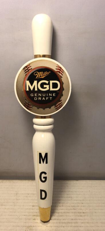 Vintage Wood Miller Genuine Draft MGD Baseball Beer Tap Handle Very Good