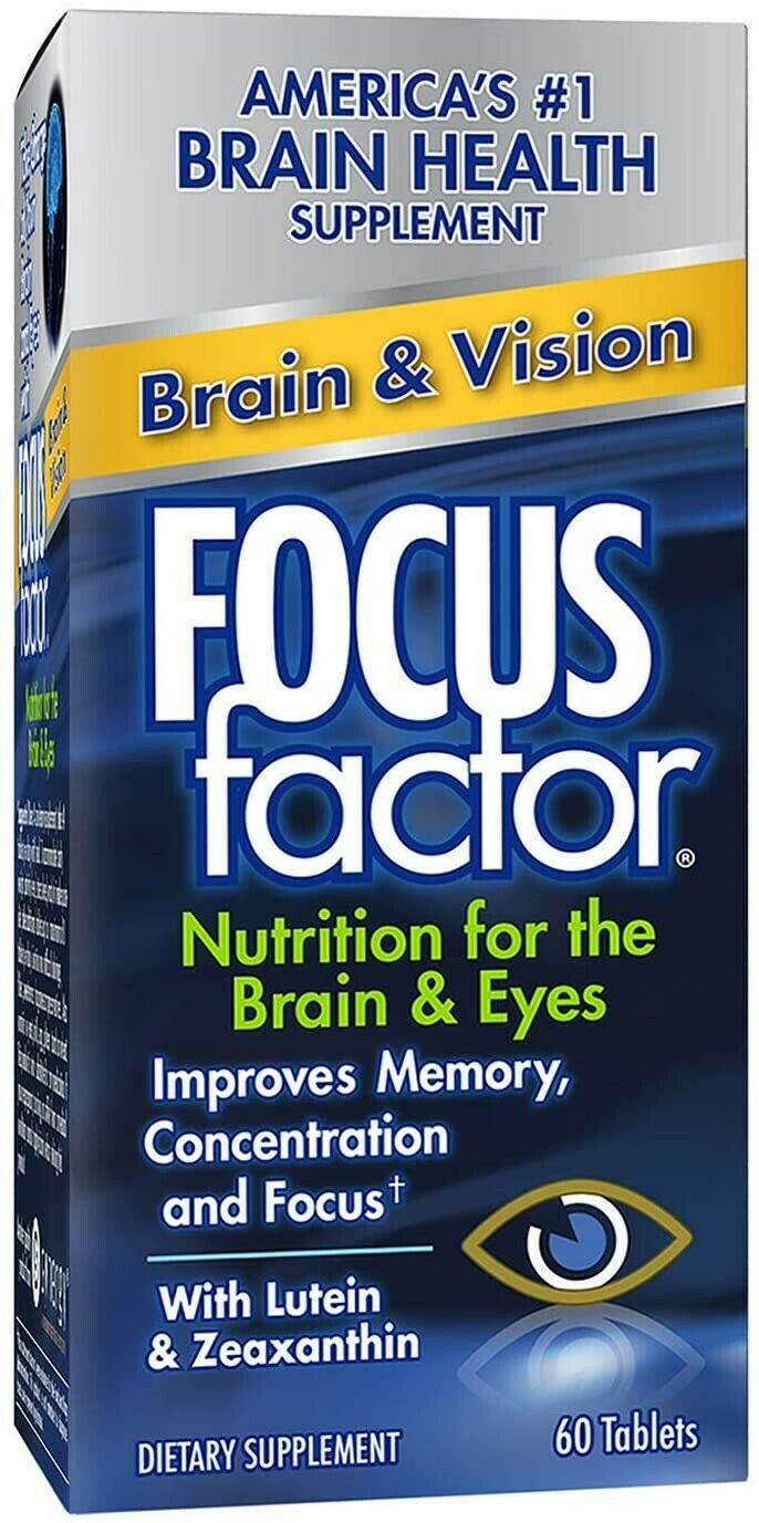 Focus Factor Brain & Vision with Lutein& Zeaxanthin 60 Tablets