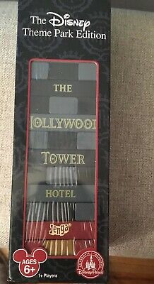 Disney Theme Park Edition Hollywood Tower Hotel Jenga Game Brand New in Box (Hollywood Theme Games)