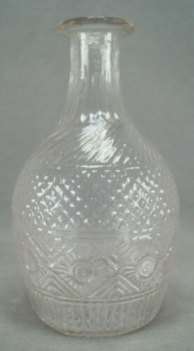 Boston & Sandwich Mckearin Pattern GIII-24 Blown Three Mold Decanter C. 1830s