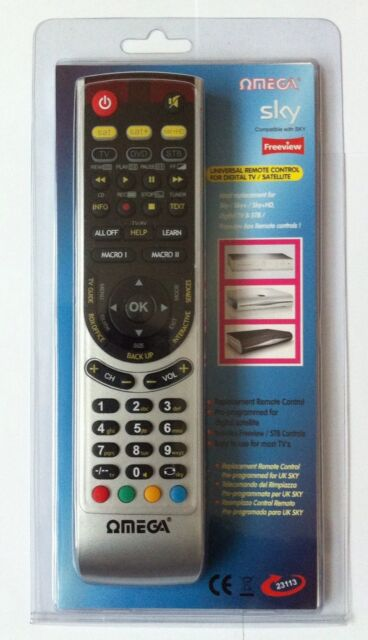 OMEGA UNIVERSAL SKY REMOTE CONTROL FOR DIGITAL TV / SATELITE ALL IN ONE