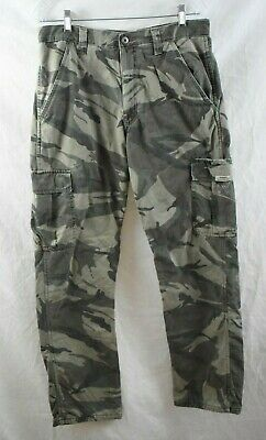 Wrangler Authentic Camouflage Men Classic Cargo Combat Pant W32 L32 Fleece Lined