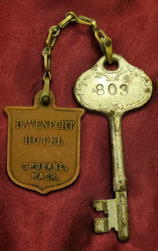 RARE - Davenport Hotel Skeleton Key - Room 803 - Spokane Wash.