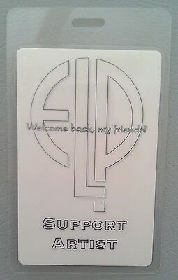 ELP EMERSON LAKE & PALMER LAMINATED BACKSTAGE PASS SUPPORT ARTIST
