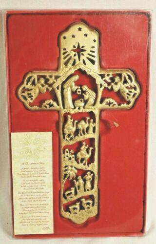 R. FOGLE DICKSONS DESIGN NATIVITY THEME CROSS CHRISTMAS ORNAMENT