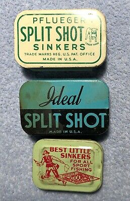 Vintage Antique Hand Made Lead Split Shot Sinkers Weights Size 3 LOT OF 72!