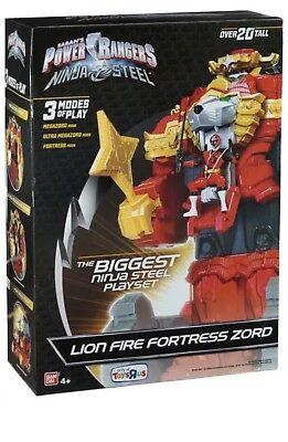 "Power Rangers Ninja Steel LION FORTRESS ZORD 20"" Tall TRU Toys R Us (Power Rangers Ninja Steel Toys R Us)"