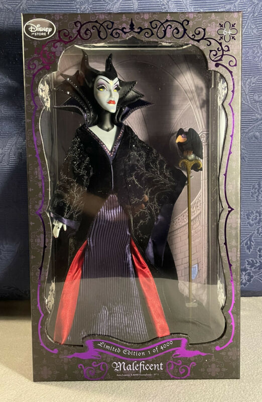 """Maleficent Limited Edition 17"""" Doll Disney Store, UK seller, NRFB"""