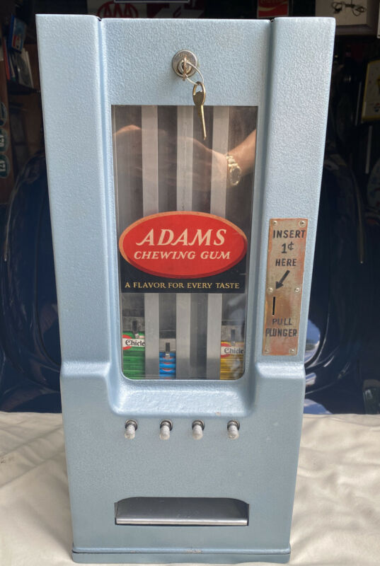 Vintage 1930's Adams Chewing Gum Vending Machine