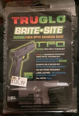 Truglo TG131MPT Brite-Site Fiber Optic Sight Set For S&W M&P, SD9 and (Truglo Fiber Optic Sights For S&w M&p)