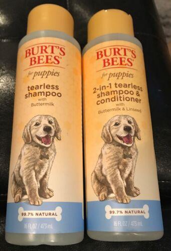 2x Burt's Bees for Puppies Tearless Shampoo + 2-in-1 Shampoo