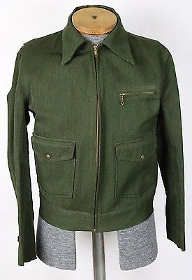 Vintage 1930s 40s Ranger Whipcord By Days Forest Ranger Wool Jacket